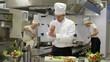 chef preparing salad then hurts wrist injury