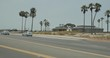 Rear left camera view of 9-angle driving plate in Huntington Beach, California, traveling on Pacific Coast Highway Northbound, from Newland Street to Twin Dolphin Drive. ID: DP180715-027.
