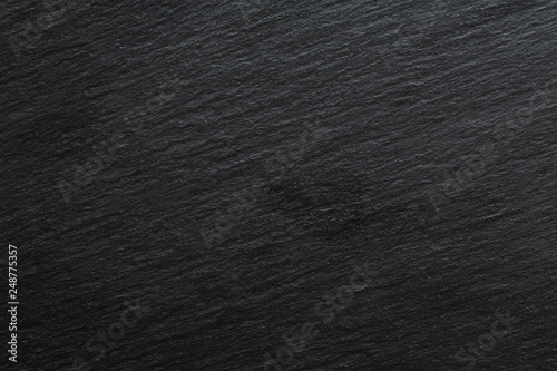 Tuinposter Stenen Dark grey black slate background or texture