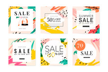 Memphis Summer Sale Design Col...