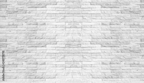 Foto  Abstract white brick wall background