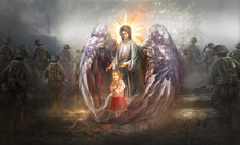 Angel Protecting Child In Warz...
