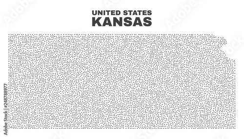 Kansas State map designed with little points. Vector abstraction in on kansas state coloring sheets, kansas state pin up, kansas state purple pride, kansas state landscape,