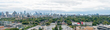 Aerial View Of The Toronto Skyline With CN Tower From Casa Loma