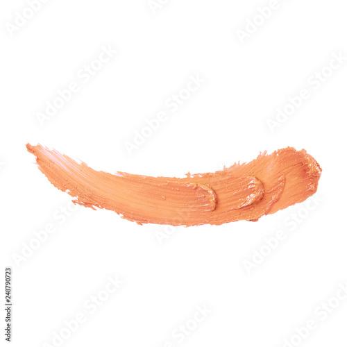 Fotografie, Obraz  Lipstick Smear Isolated on White Background