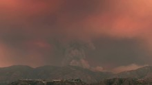 4k Time Lapse Of Massive Los Angeles Wildfire In 2016
