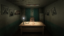 Horror And Creepy Working Room In The Hospital .3D Rendering