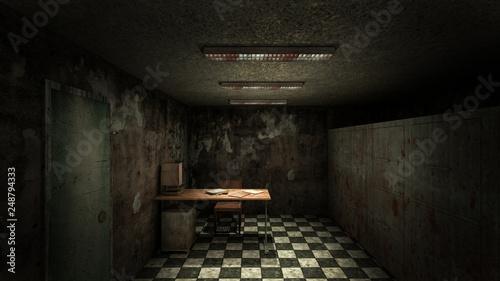 Fotografie, Obraz  horror and creepy mortuary in the hospital .3D rendering