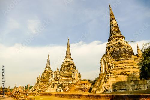 Beautiful photo of Ayutthaya taken in thailand Canvas Print