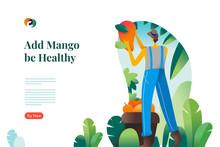 Mango Farm Mockup Web Design