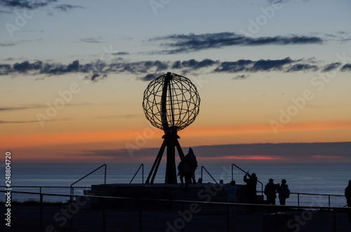 Fotobehang Noord Europa Globe monument at the North Cape