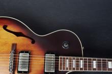 Jazz Guitar On A Dark Backgrou...