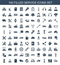 100 Service Icons