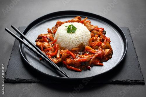 Kuchnia Chińska Kurczak Z Warzywami W Sosie Słodko Kwaśnym