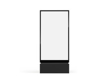Totem Light Box Mockup. Vector...