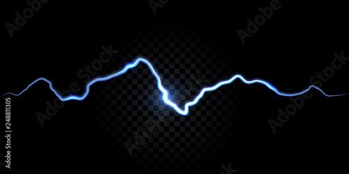 Fotografia Thunder spark, electric flash vector background