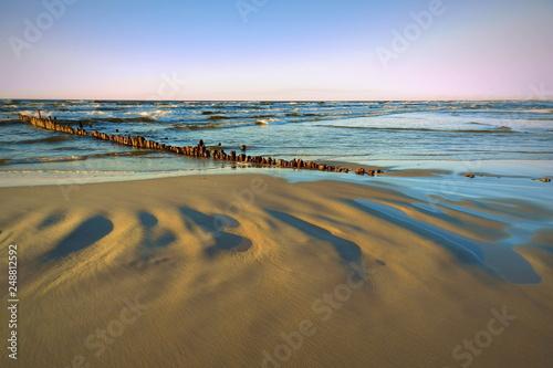 Fototapeta piękna plaża, Morze Bałtyckie obraz