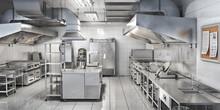 Industrial Kitchen. Restaurant...