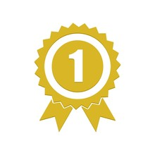 Number 1 Winner Ribbon Award B...