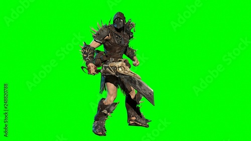 fierce orc fighter 3d render Canvas Print