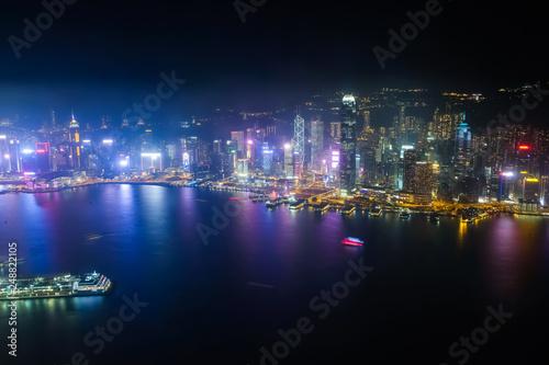 Photo  香港 スカイ100(環球貿易広場)からの夜景