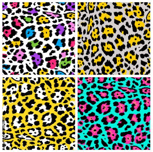 Leopard pattern seamless design Wallpaper Mural