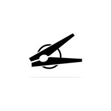 Clothespin Icon, Vector Concept Illustration For Design.