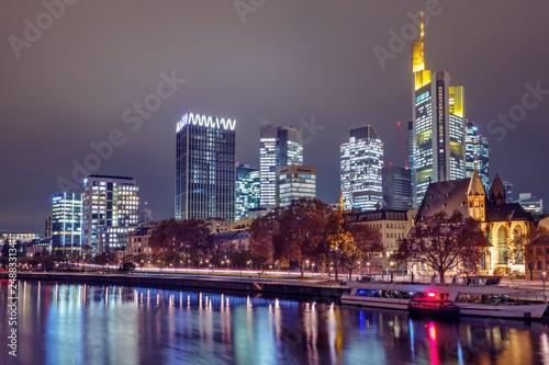 Poster Skyline of Frankfurt am Main. Germany