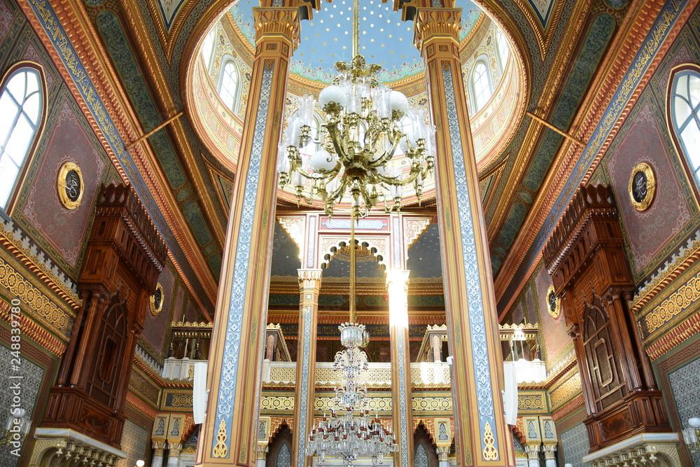Fototapety, obrazy: Yildiz Hamidiye Mosque built by Sultan Abdulhamid II, 1885 in Besiktas, Istanbul, Turkey