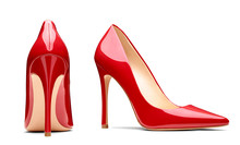 Red High Heel Footwear Fashion Female Style