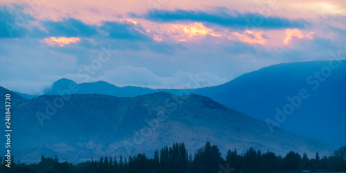 Fototapety, obrazy: Chilean Andes Mountain Aerial View