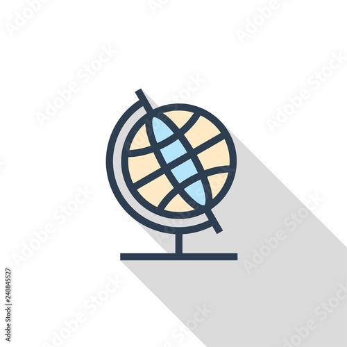 Fotografia  Geography Flat Icon Concept