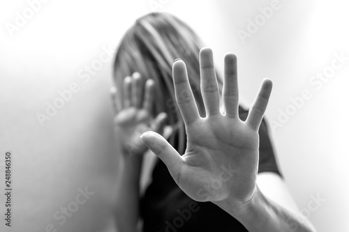 Canvas Print Stop Sexual abuse Concept, stop violence against Women, international women's da