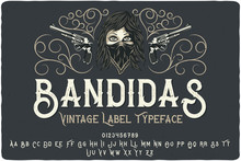 "Vintage Font Set Named ""Bandid..."