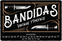 """Vintage Font Set Named """"Bandid..."""