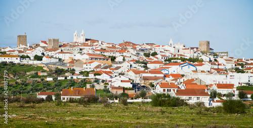 Avis old village in Portugal. Canvas Print