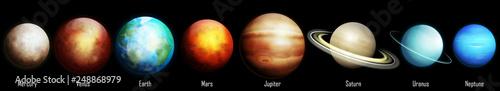 Ilustracja planet Układu Słonecznego