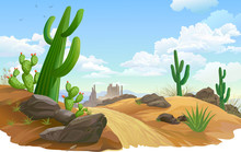 Rocks, Saguaro And Cactus Infe...