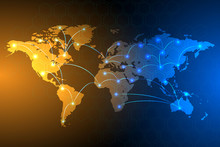 Global Network Connection Background, Vector