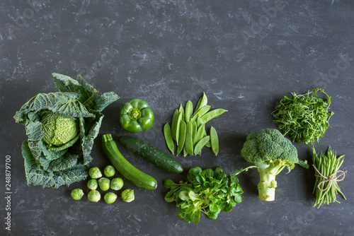 Photo Green vegetables selection