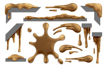 Set Of Mud, Chocolate Or Brown...