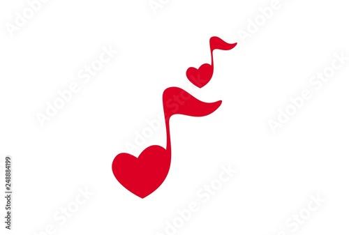 Fotografía  love note music song logo icon