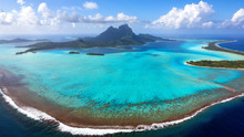 Aerial View Of Bora Bora Islan...