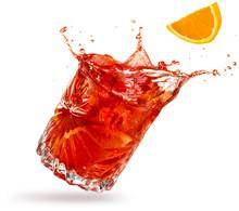 Orange Slice Falling Into A Sp...