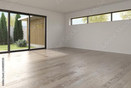 Pinturas sobre lienzo  Interior empty room 3D rendering