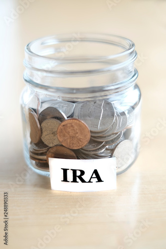 Fényképezés  Money Jar for Savings and Investment Retirment IRA 401k College Rainy Day