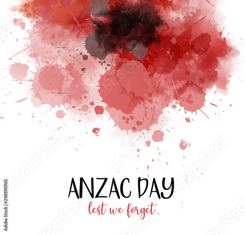 Fotomural  Anzac Day. Lest we forget