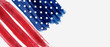 Background with USA painted flag