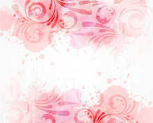 Abstract Background With Floral Swirls