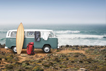 Tourist Camp With Bags, Surfbo...